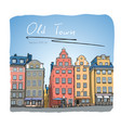 sweden stockholm trade square hand drawn sketch vector image