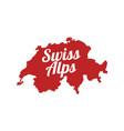 swiss alps banner with silhouette switzerland