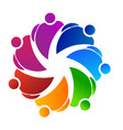 teamwork group of working friends logo vector image vector image
