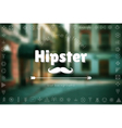 Trendy hipster blur background and logotypes vector image vector image
