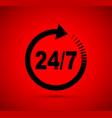 twenty four seven icon vector image vector image