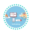 Vacation Planning Icon Flat Isolated Round vector image vector image