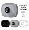 Webcam icon in cartoon style isolated on white vector image