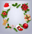 xmas banner with red poinsettia 10 m 191114xmas vector image vector image