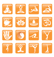 Yoga spa massage buttons icons vector image vector image