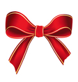 Realistic red bow isolated on white background vector image