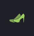shoes computer symbol vector image