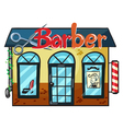 a barber shop vector image vector image