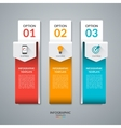 Abstract infographic template with three options vector image