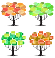 abstract tree - graphic element - four seasons vector image vector image