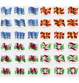 Aruba Macedonia Wales Burundi Set of 36 flags of vector image