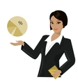 asian business woman pointing to business trends vector image vector image