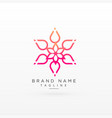 beautiful flower logo concept design vector image