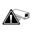 camera surveillance warning alert sign vector image vector image