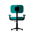 chair office flat shadow vector image vector image