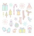 Christmas and New year hand drawn objects vector image vector image