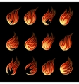 Colorful Fire Icon Set vector image vector image