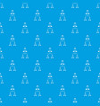 company structure pattern seamless blue vector image vector image