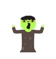 cute halloween zombie cartoon character vector image vector image