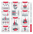 demographic charts and graphs vector image