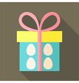 Easter gift with eggs vector image