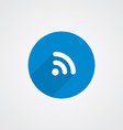 Flat Blue WiFi icon vector image