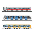 flat style set of metro trains vector image vector image