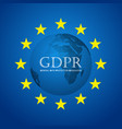 gdpr abstract background template with round city vector image