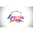 georgia welcome to message in purple vibrant vector image vector image