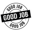 good job stamp on white vector image vector image
