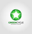 green cycle - nature green leaf logo vector image vector image