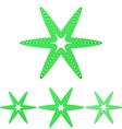 Green line star logo design set vector image vector image