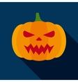 Halloween Pumpkin in Flat Style vector image