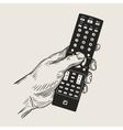 hand remote control vector image vector image