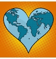 Heart earth planet vector image vector image
