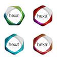 hexagon logo icon templates vector image vector image