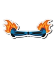 horverboard in flames icon vector image