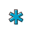 hospital ems flat outline icon vector image