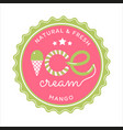 ice cream design vector image vector image