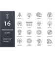 innovation line icons set black vector image