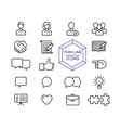 internet business line icon set for web marketing vector image