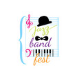 jazz festival music concert logo musical vector image vector image