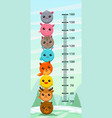 kids height chart vector image vector image