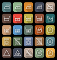 Laundry line flat icons with long shadow vector image vector image