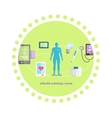 Mhealth Technologies System Icon Flat Isolated vector image vector image