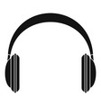 modern headphones icon simple style vector image vector image