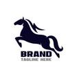 modern horse flash logo vector image