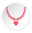 necklace icon circle vector image vector image