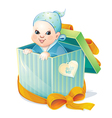 newborn boy vector image