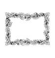 oak frame engraving vector image